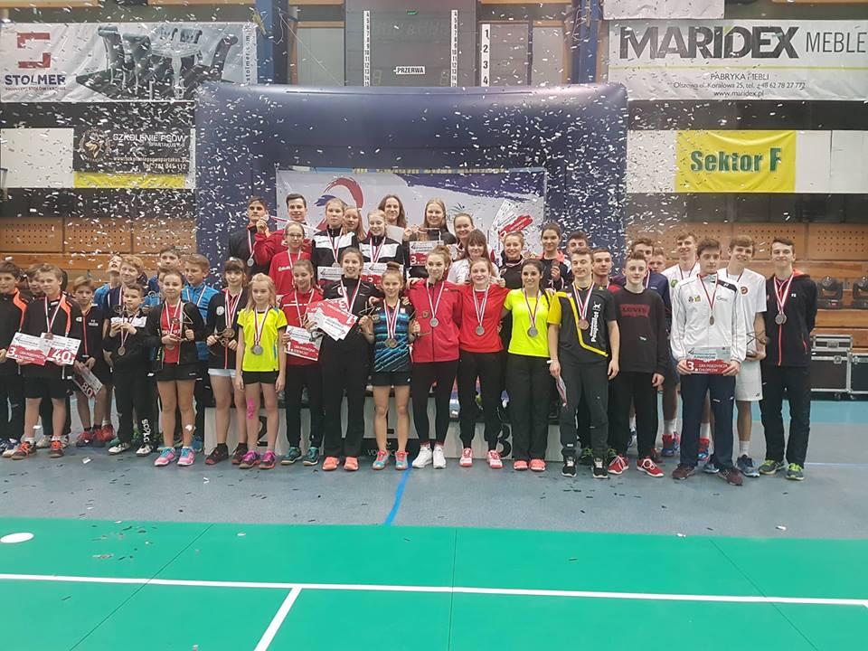 Michał MATYSIAK – Mistrz Polski w grze pojedynczej juniorów w badmintonie – Hubertus Zalesie Górne